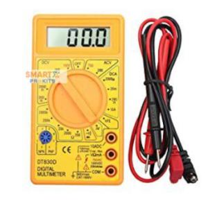 Digital Multimeter Small Yellow Color LCD
