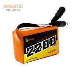 Orange 18650 Li-ion 2000mAh 7.4v 2S1P Protected Battery