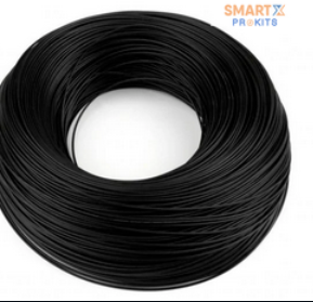 2 Meter UL1007 23AWG PVC Electronic Wire (Black)